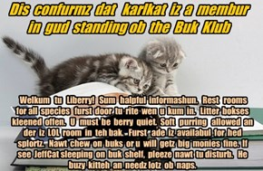 Offishul JeffCatsBookClub Memburship Kard for karlkat