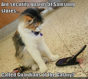 Are security guards at Samsung stores...  Called Guardians of the Galaxy?