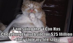 "I am suing the ""I Can Has Cheezburger"" website for $25 Million - they stole my life story"
