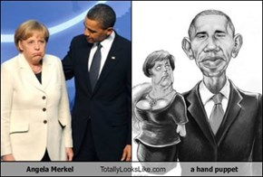 Angela Merkel Totally Looks Like a hand puppet