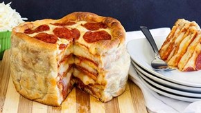 The Pizza Cake is Very Real and We Would Like Twelve of Them, Thanks