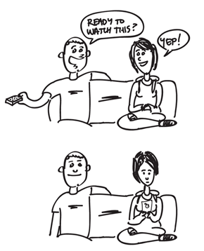 Every Time I Watch a Movie With My Girlfriend