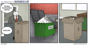 Business Cat Orders a New Printer