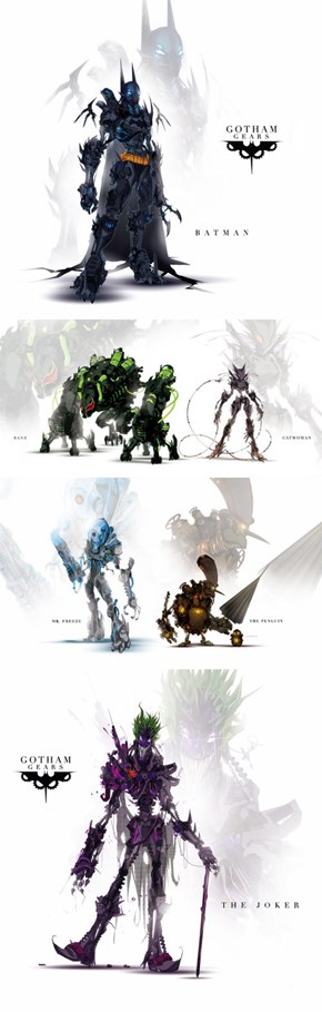 Batman and Villains Are Redesigned As Awesome Robots