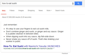 Google Gives You Some Pro Tips for Eating Sushi