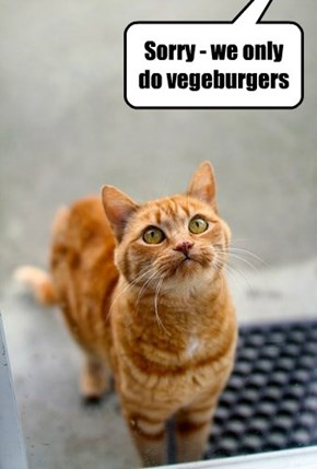Sorry - we only do vegeburgers