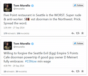 Rage Against the Machine's Tom Morello Acts Like an Entitled Douche at a Seattle Dive Bar and Gets The Perfect Response from the Owners