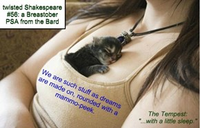 twisted Shakespeare #56: a Breastober PSA from the Bard