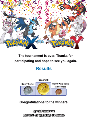 Congratulations to Spaghetti, the Winner of the Pokémemes Tag Tournament!