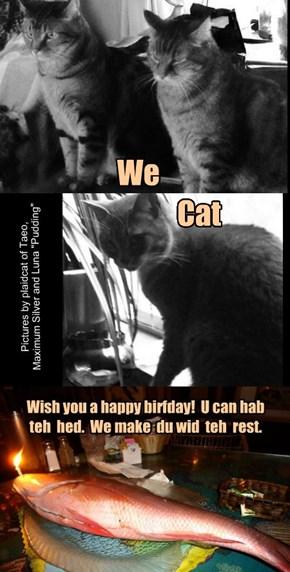 Happy Birthday plaidcats!