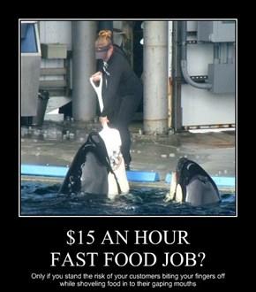 $15 AN HOUR  FAST FOOD JOB?