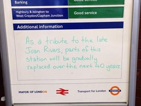 Transport of London Has the Most Delicious Tribute to the Snark of Joan Rivers