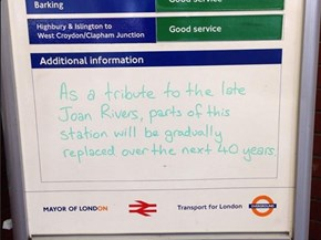 Too Soon, London Transport, Too Soon!