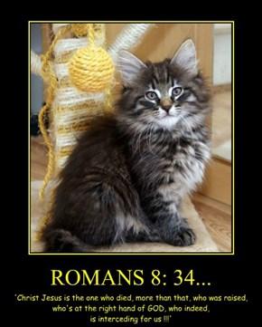 ROMANS 8: 34...