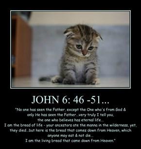 JOHN 6: 46 -51...