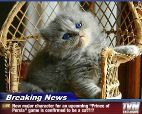 "Breaking News - New major character for an upcoming ""Prince of Persia"" game is confirmed to be a cat?!?"