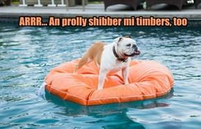 ARRR... An prolly shibber mi timbers, too