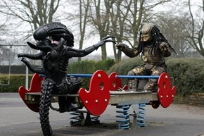 If We Teach Our Aliens and Predators At a Young Age, They Wouldn't Fight So Much