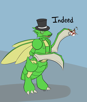 Gentleman Scyther is gentlemanly
