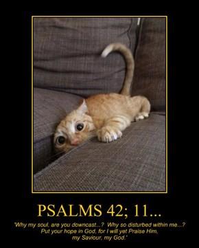 PSALMS 42; 11...