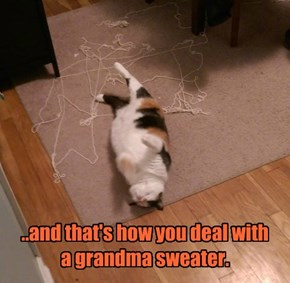..and that's how you deal with  a grandma sweater.