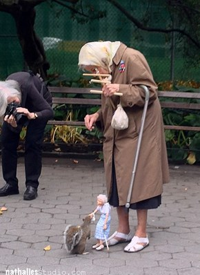 Just an Adorable Old Lady and Her Mannequin Counterpart, No Worries