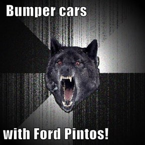 Bumper cars  with Ford Pintos!