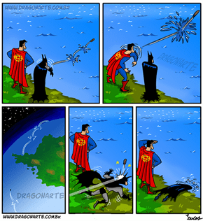 Batman v Superman: Dawn of Beach Day