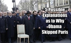 5 Possible Explanations as to Why Obama Skipped Paris