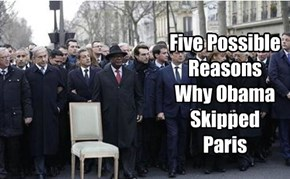 Five Possible Reasons Why Obama Skipped Paris