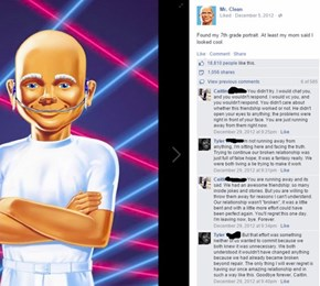 There is Nothing Mr. Clean Can do to Make This Less Awkward