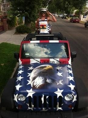 Blake Anderson From 'Workaholics' Has a Pretty Damn Patriotic Vehicle