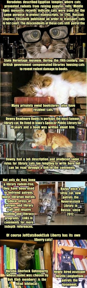 A Brief History of Library Cats