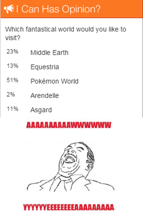 Pokémon World Voted Best World on Cheezburger!