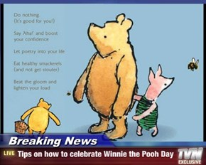 Breaking News - Tips on how to celebrate Winnie the Pooh Day