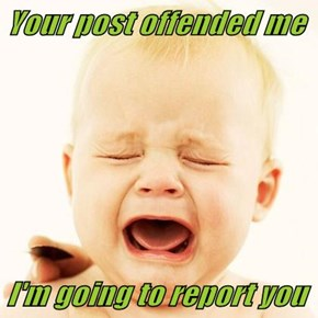 Your post offended me  I'm going to report you