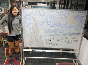 University of Florida Student Turns Her Exam Notes Into Van Gogh's Starry Night