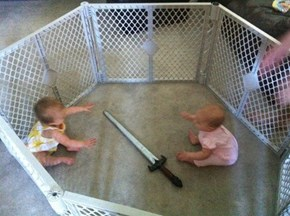 Two Babies Enter!