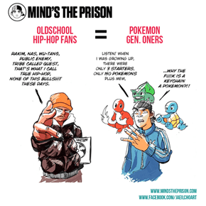 Oldschool Hip-Hop Fans Are Basically Pokemon Gen. Oners