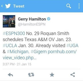 An ESPN Analyst Tweets Out His Sports Opinions... and His Adult Preferences