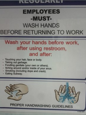 Hygiene is a Priority at This Workplace