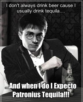 Harry Potter is all grown up...stay thirsty by friends!