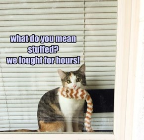 what do you mean stuffed? we fought for hours!
