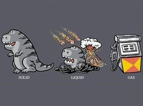The Three States of Matter, and Dinosaurs