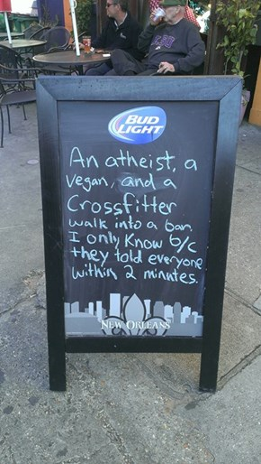 A Modern Twist on a Classic Bar Joke