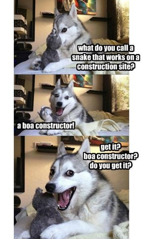 what do you call a snake that works on a construction site?