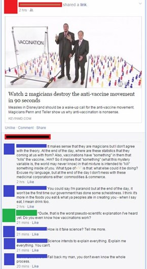 How Much Bad Science About Vaccines is There Here?