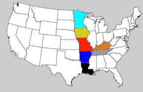 There Are Seven States That, When Highlighted, Form a Giant Elf Carrying a Tray of Chicken