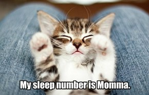 My sleep number is Momma.