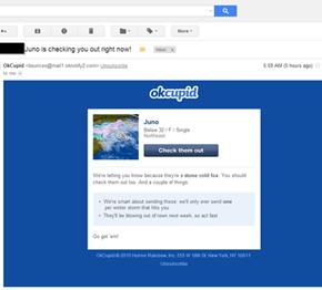 Very Funny, OkCupid...
